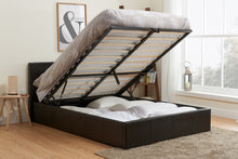 Black leather ottoman bed | Berlin ottoman available in all sizes