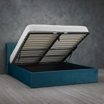LPD Berlin Small Double Ottoman Bed in Teal-bedsteads-bedsmart
