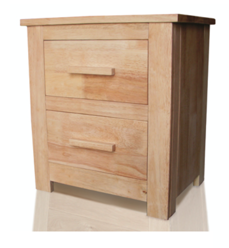 Flintshire Furniture Oak bedside cabinet | Buckley 2 drawer bedside-Furniture-bedsmart