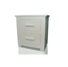 Flintshire Furniture White bedside cabinet | Buckley 2 drawer bedside-Furniture-bedsmart