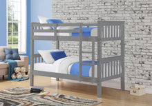 Grey pine wooden bunk beds - Sweet Dreams wooden bunks