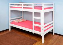 Durham white wooden bunks | 3ft white pine bunk beds-bedsteads-bedsmart