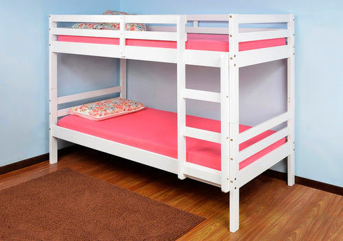 Durham white wooden bunks | 3ft white pine bunk beds