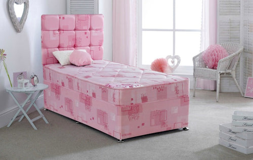 Pretty pink divan set | Bedsmart girls single bed - bedsmart