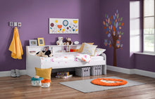 Gracie day bed with guest bed | White daybed with shelves and trundle set - bedsmart