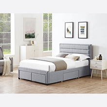 Greenwich king size grey bed with drawers by LPD-bedsteads-bedsmart