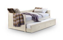 Isabella day bed with guest bed | White wooden daybed and trundle set - bedsmart