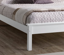 Limelight white wooden king size bed frame with low foot end-bedsteads-bedsmart