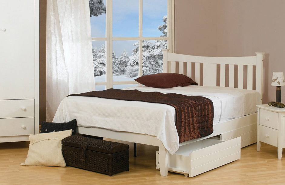 Kingfisher White Wooden Bed frame by Sweet dreams-bedsteads-bedsmart
