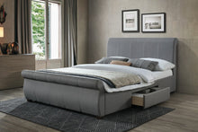Lancaster grey sleigh bed with storage-bedsteads-bedsmart