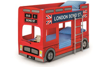 London Bunk Bed In Red - bedsmart