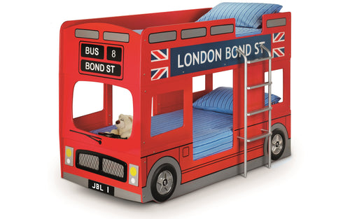 London Bunk Bed In Red-Childrens Beds-bedsmart