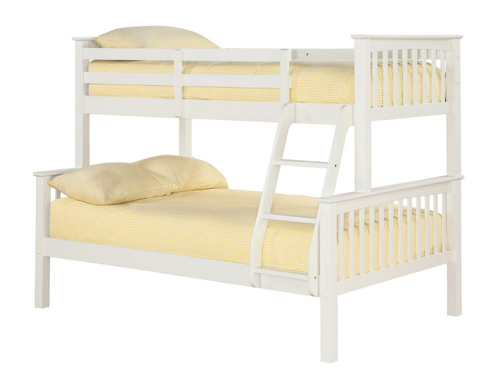 White small double triple sleeper bunk bed