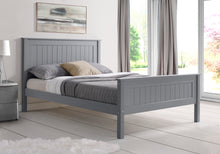 Limelight Grey wooden single bed frame with high foot end-bedsteads-bedsmart