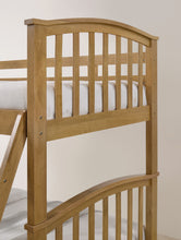 Oak wooden bunks with drawers