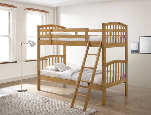 Oak wooden bunk beds - Artisan Oak bunk-bedsteads-bedsmart
