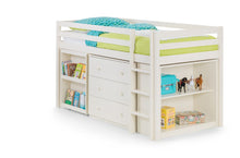 White mid sleeper | children's stone white sleep station with storage and desk-Childrens Beds-bedsmart