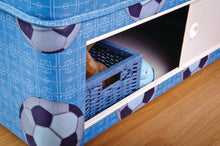 Football bed - blue children's football divan set with slide door stoarge