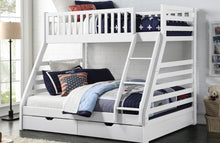 States triple bunk by Sweet Dreams | White three sleeper with drawers-bedsteads-bedsmart