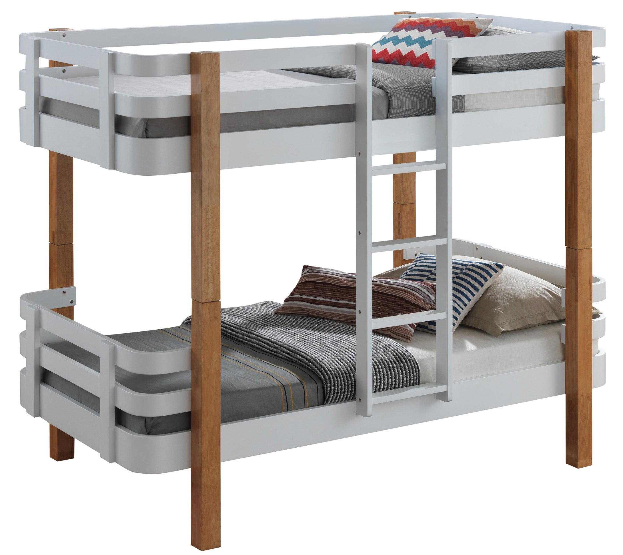 Grey Wooden Bunk Beds Cool Bunks By Sweet Dreams Bedsmart