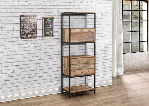 Rustic 3 drawer shelving unit | Urban industrial furniture range-Furniture-bedsmart