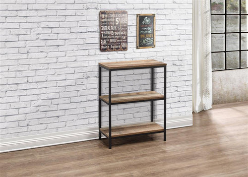 Rustic bookcase with 3 shelves | Urban industrial furniture range-Furniture-bedsmart