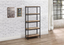 Rustic bookcase with 5 shelves | Urban industrial furniture range - bedsmart