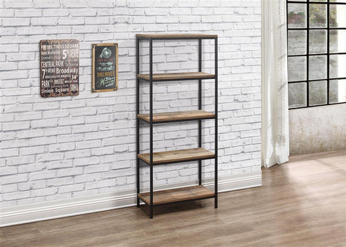 Rustic bookcase with 5 shelves | Urban industrial furniture range-Furniture-bedsmart