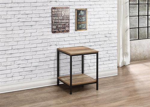 Rustic lamp table | Urban industrial furniture range-Furniture-bedsmart
