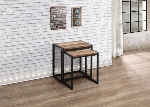 Rustic nest of tables | Urban industrial furniture range-Furniture-bedsmart