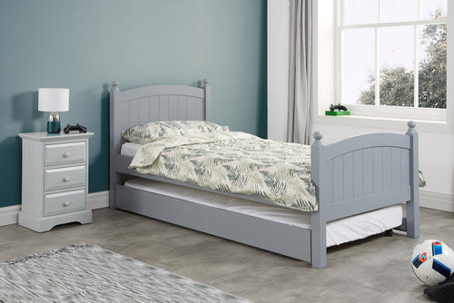 Haven grey wooden guest bed-bedsteads-bedsmart