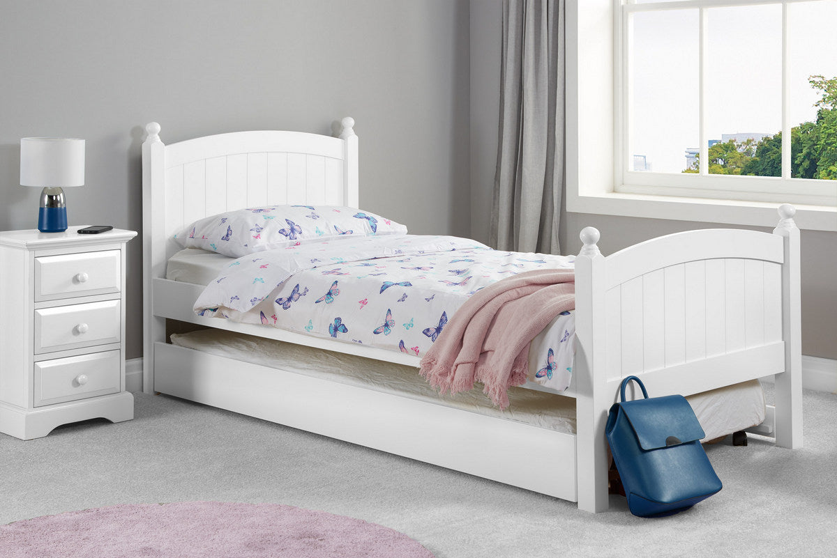 Haven white wooden guest bed-bedsteads-bedsmart