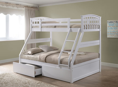 Artisan white wooden triple bunk bed-bedsteads-bedsmart
