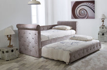Limelight Zodiac Daybed with trundle bed in luxurious mink fabric-Day beds-bedsmart