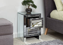 Stunning mirrored 2 drawer bedside-Furniture-bedsmart