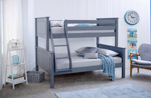 Ashley grey triple bunk bed - Luxurious modern grey three sleeper bunks-bedsteads-bedsmart