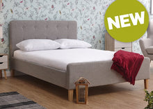Ashbourne Grey Fabric Bed Frame