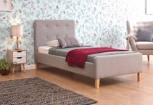 Cheap grey fabric bed frame | light grey or dark grey ashbourne bed-Fabric beds-bedsmart