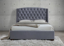 Grey velvet luxurious fabric bed | Balmoral king size bed frame - bedsmart
