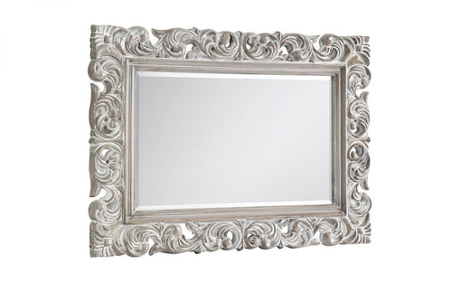 Distressed wall mirror | Baroque antique inspired mirror - bedsmart