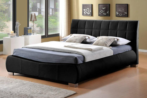 Black faux leather bed | Signature Dorado bed frame