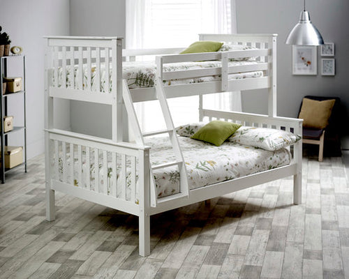 White carra triple bunk bed-bedsteads-bedsmart