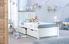 Chester kids single wooden bed frame with optional drawers