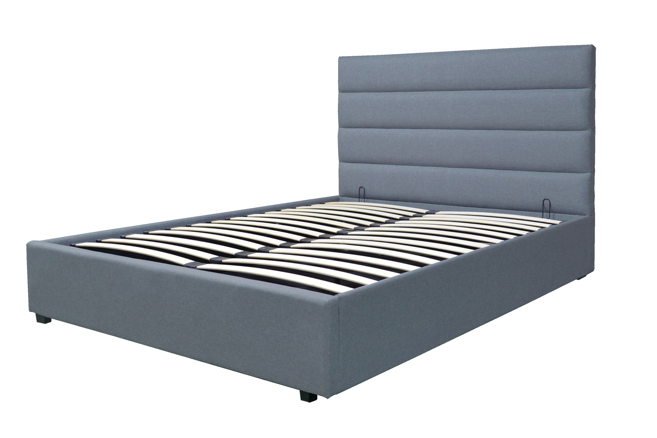Small double grey Chester ottoman bed-bedsteads-bedsmart