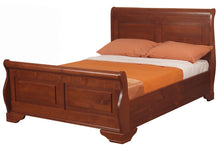 Wild cherry Jackdaw wooden sleigh bed by Sweet Dreams - bedsmart
