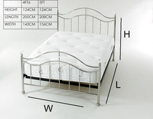 Chrome metal bed frame - Signature cygnus metal bedstead - bedsmart