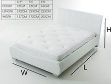 White faux leather bed | Signature Dorado bed frame-bedsteads-bedsmart