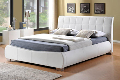 White faux leather bed | Signature Dorado bed frame