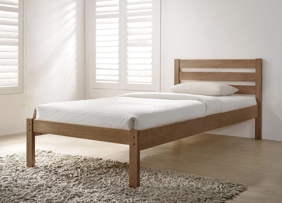Eco oak wooden bed frame - Flintshire furniture bed in a box