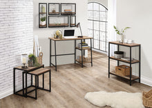 Rustic bookcase with 3 shelves | Urban industrial furniture range - bedsmart